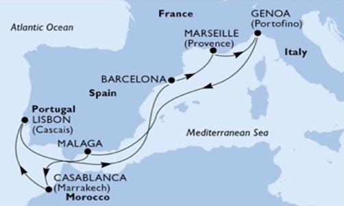 Spagna, Marocco, Portogallo e Francia