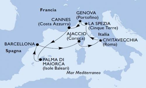 Francia, Baleari, Spagna e Corsica