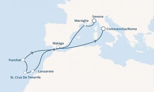 Francia, Canarie, Madera e Spagna